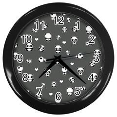 Panda Pattern Wall Clocks (black)