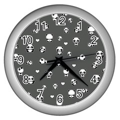 Panda Pattern Wall Clocks (silver)