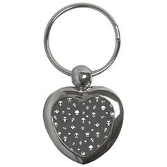 Panda Pattern Key Chains (heart)