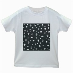 Panda Pattern Kids White T Shirts
