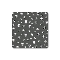 Panda Pattern Square Magnet