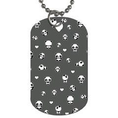 Panda Pattern Dog Tag (two Sides)