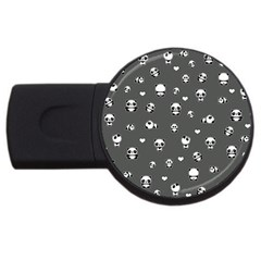 Panda Pattern Usb Flash Drive Round (2 Gb)