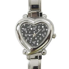 Panda Pattern Heart Italian Charm Watch