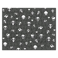 Panda Pattern Rectangular Jigsaw Puzzl
