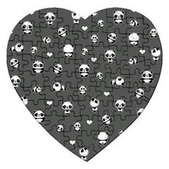Panda Pattern Jigsaw Puzzle (heart)