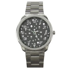 Panda Pattern Sport Metal Watch