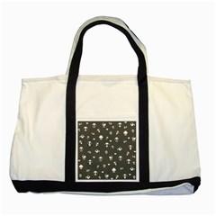 Panda Pattern Two Tone Tote Bag