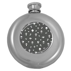 Panda Pattern Round Hip Flask (5 Oz)