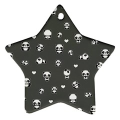 Panda Pattern Star Ornament (two Sides)