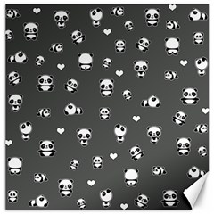 Panda Pattern Canvas 12  X 12