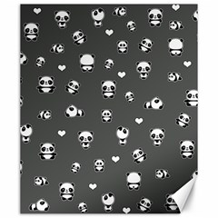 Panda Pattern Canvas 20  X 24