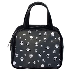 Panda Pattern Classic Handbags (one Side)