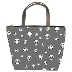 Panda Pattern Bucket Bags