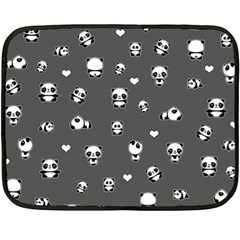 Panda Pattern Double Sided Fleece Blanket (mini)