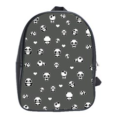 Panda Pattern School Bag (large)