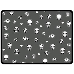 Panda Pattern Fleece Blanket (large)