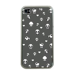 Panda Pattern Apple Iphone 4 Case (clear)
