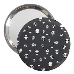 Panda Pattern 3  Handbag Mirrors