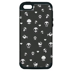 Panda Pattern Apple Iphone 5 Hardshell Case (pc+silicone)