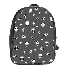 Panda Pattern School Bag (xl)