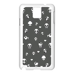 Panda Pattern Samsung Galaxy Note 3 N9005 Case (white)