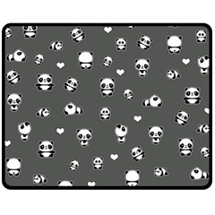 Panda Pattern Double Sided Fleece Blanket (medium)