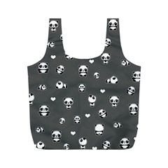 Panda Pattern Full Print Recycle Bags (m)