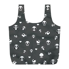 Panda Pattern Full Print Recycle Bags (l)