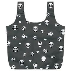 Panda Pattern Full Print Recycle Bags (l)