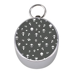 Panda Pattern Mini Silver Compasses