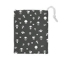 Panda Pattern Drawstring Pouches (large)