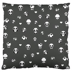 Panda Pattern Large Flano Cushion Case (two Sides)
