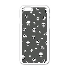Panda Pattern Apple Iphone 6/6s White Enamel Case