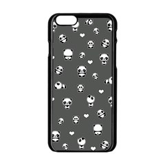 Panda Pattern Apple Iphone 6/6s Black Enamel Case