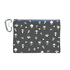 Panda Pattern Canvas Cosmetic Bag (m)