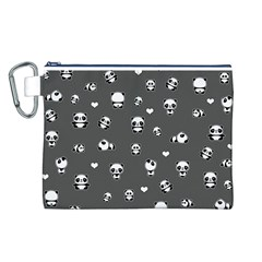 Panda Pattern Canvas Cosmetic Bag (l)