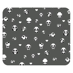 Panda Pattern Double Sided Flano Blanket (small)