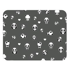 Panda Pattern Double Sided Flano Blanket (large)