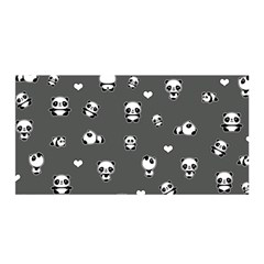 Panda Pattern Satin Wrap