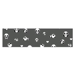 Panda Pattern Satin Scarf (oblong)