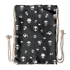 Panda Pattern Drawstring Bag (large)