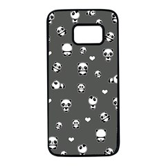 Panda Pattern Samsung Galaxy S7 Black Seamless Case