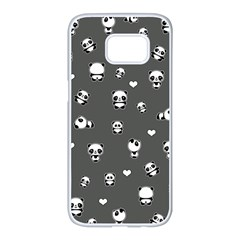 Panda Pattern Samsung Galaxy S7 Edge White Seamless Case