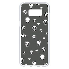 Panda Pattern Samsung Galaxy S8 Plus White Seamless Case