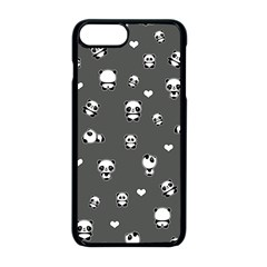 Panda Pattern Apple Iphone 8 Plus Seamless Case (black)