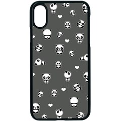 Panda Pattern Apple Iphone X Seamless Case (black)