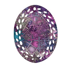 Fun,fantasy And Joy 1 Oval Filigree Ornament (two Sides)