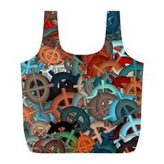 Fun,fantasy And Joy 2 Full Print Recycle Bags (l)