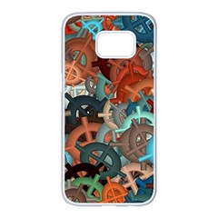 Fun,fantasy And Joy 2 Samsung Galaxy S7 Edge White Seamless Case